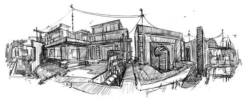 step-by-step 360 a sketch of the architecture GIF