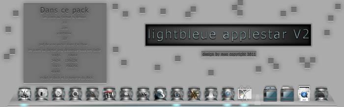lightbleue applestar V2 plus dock et psd