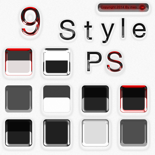 9 Styles Blanc By Meo Digital Art by cooliographistyle