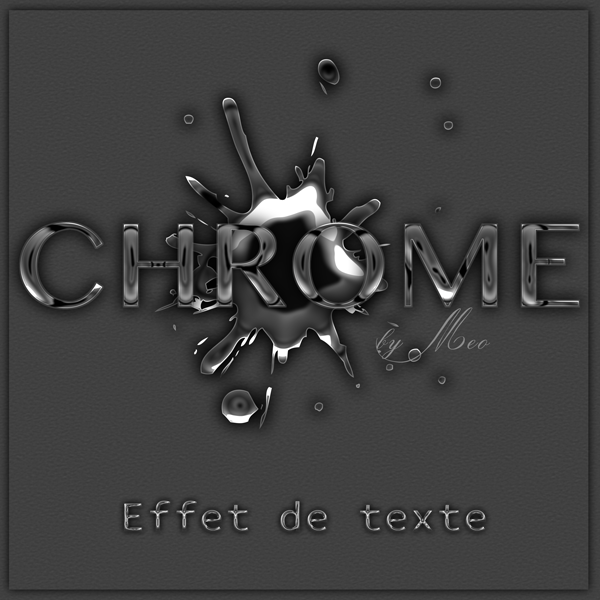 Chromes effet photoshop by meo by cooliographistyle