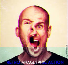 Retro Anaglyphic Photoshop Action by anand2996