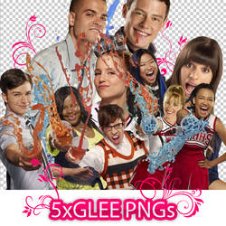 Glee PNGs by Clergna