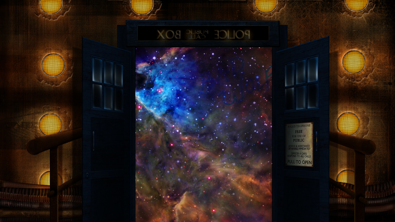 tardis inside phone wallpaper