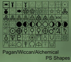 Pagan/Wiccan Custom Photoshop Shapes