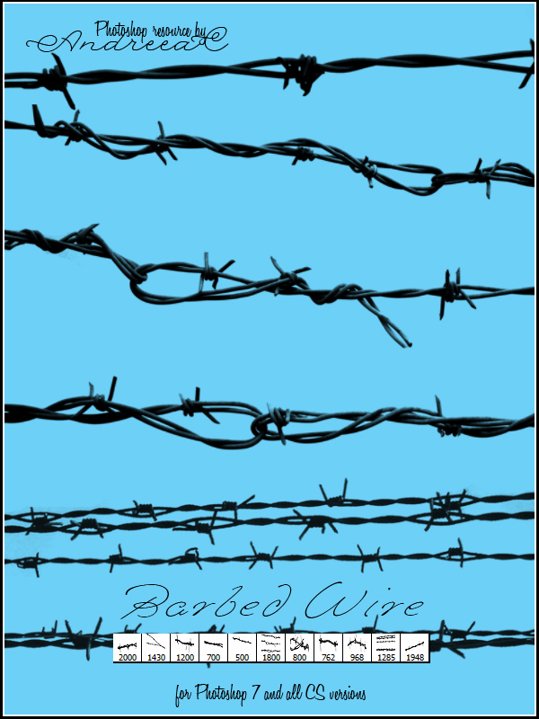 Barbed Wire Fence Photoshop Brushes - WIRE Center •
