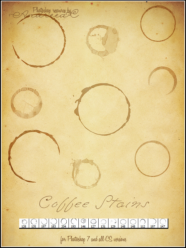UNRESTRICTED - Small Coffee Stains Brushes