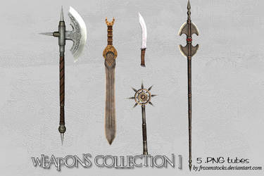 UNRESTRICTED - Weapons Collection 1 by frozenstocks