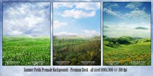 Summer Fields Premade Backs Premium