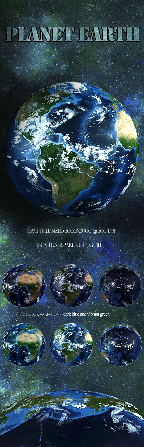 UNRESTRICTED - Planet Earth PNG Pack