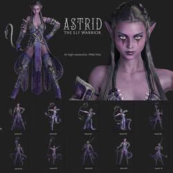 Astrid - The Elf Warrior Premium