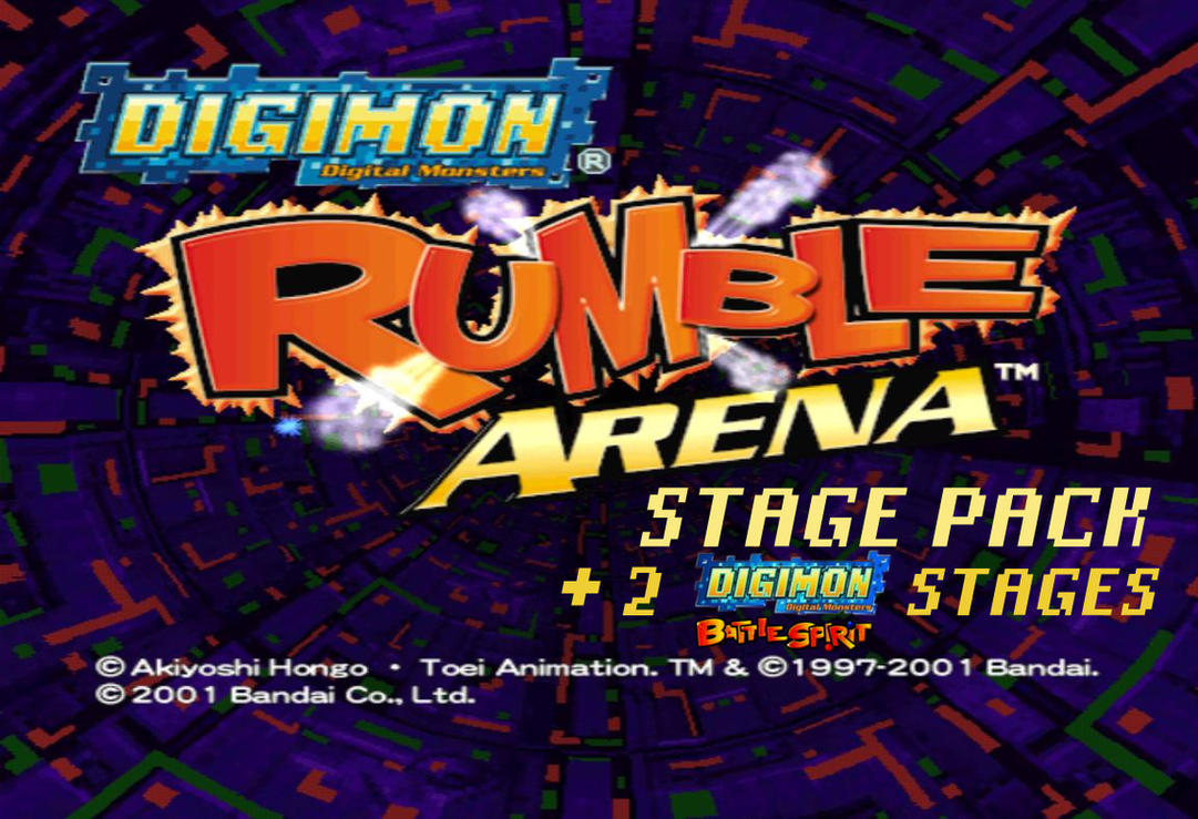 Digimon rumble arena stage pack +2 DL by Gale-Kun