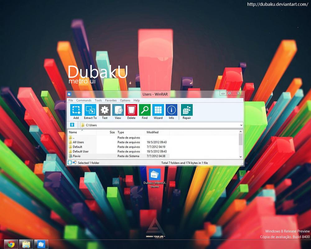 WinRAR Metro UI Theme by Dubaku by DubakU