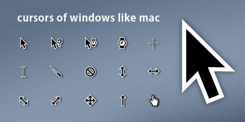 Cursors Of Windows Like Mac