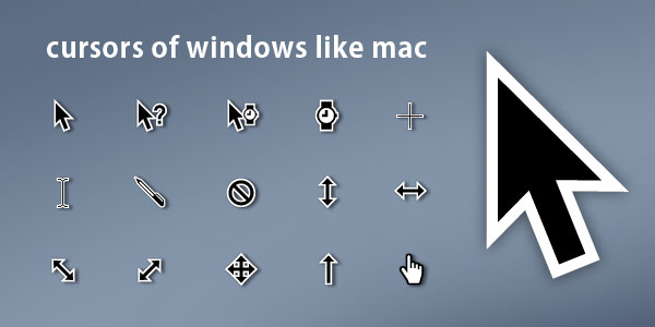 Cursors Of Windows Like Mac by gamiantart