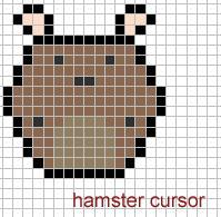 hamster cursor by insanespamking