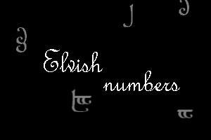 Elvish Numbers by xXtimeless-stockXx