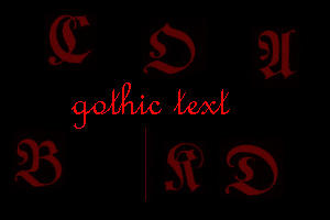 gothic text by xXtimeless-stockXx