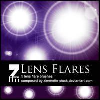Brush - Lens Flare by Zimmette-Stock