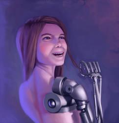 Cute Sci-Fi Girl by ArtOfThompson