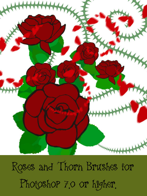 Roes and Thorns PS brushes by Hana-Keijou