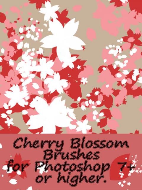Cherry Blossom brushes by Hana-Keijou