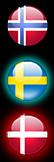 Norway,Sweden and Denmark Windows 7 StartOrb by MaskedRobot