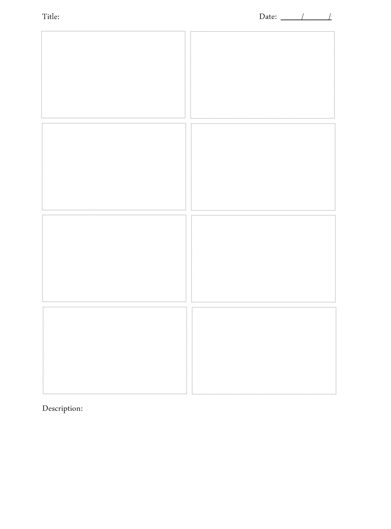 Storyboard Template Psd Bire1andwap