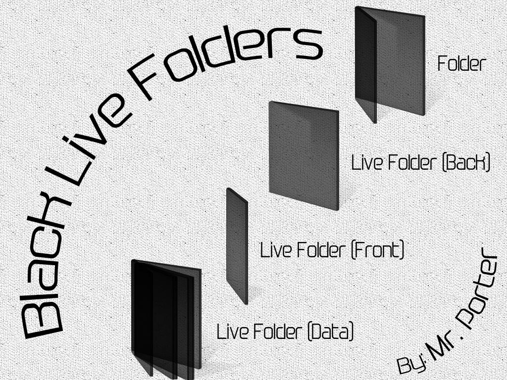 Black live folders by mrporter on deviantart for Mr porter live