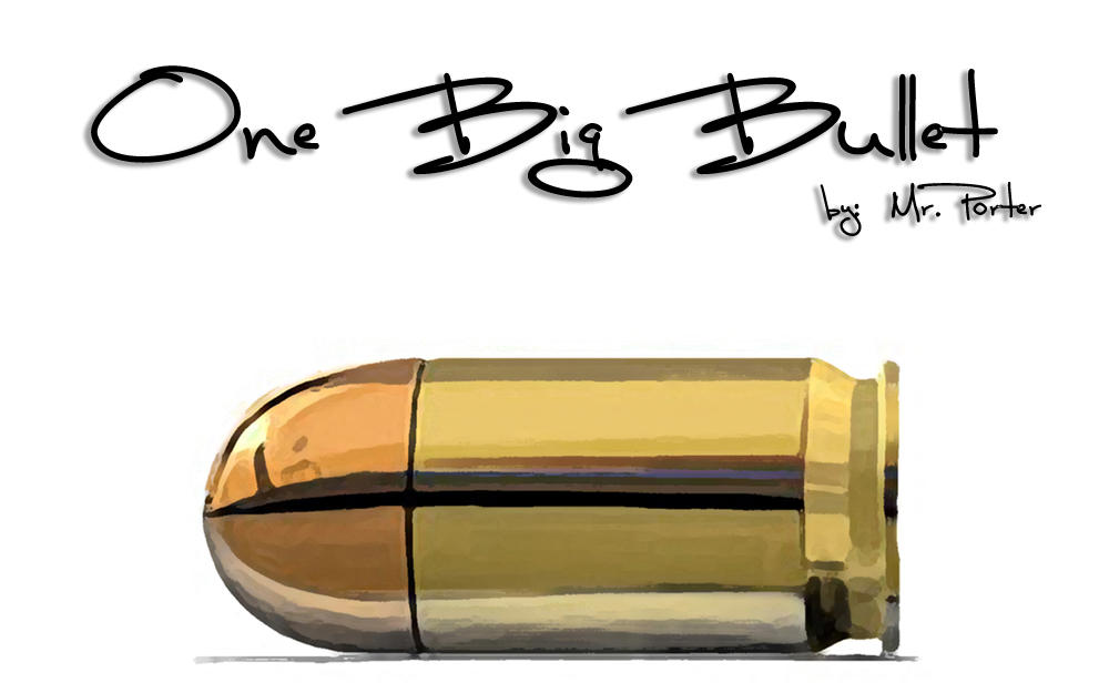 One Big Bullet Wallpaper by MrPorter