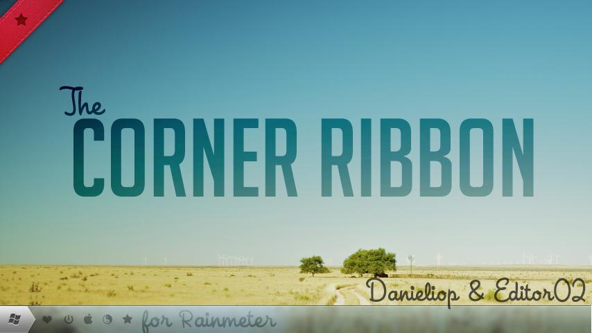 Corner Ribbons for Rainmeter by danieliop