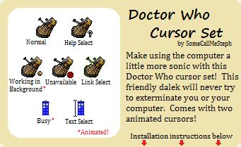Doctor Who Cursor Set by SomeCallMeSteph