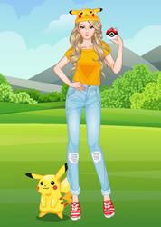 Barbie loves Pokemon by DressUpGamescom
