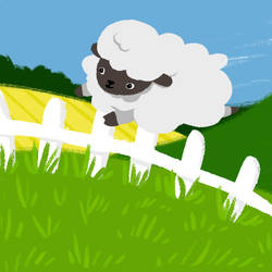 Counting sheep GIF