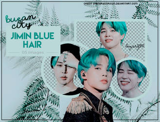 Jimin blue hair by BusanCity