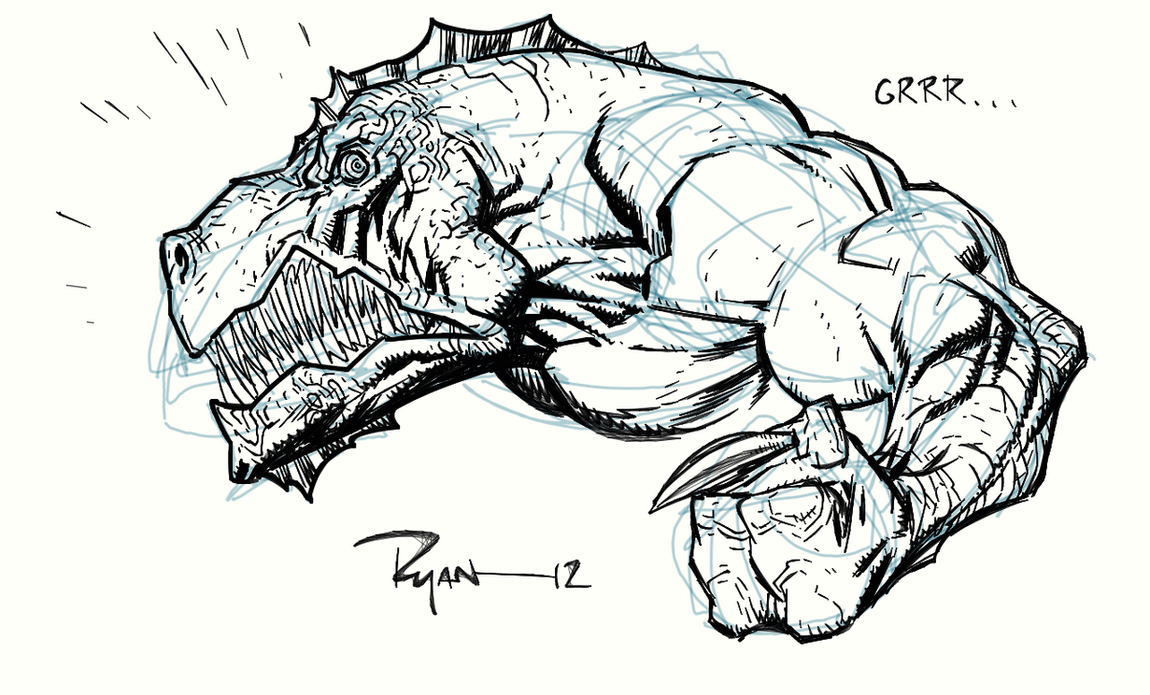 Video, watch me draw Dinosaurus by RyanOttley