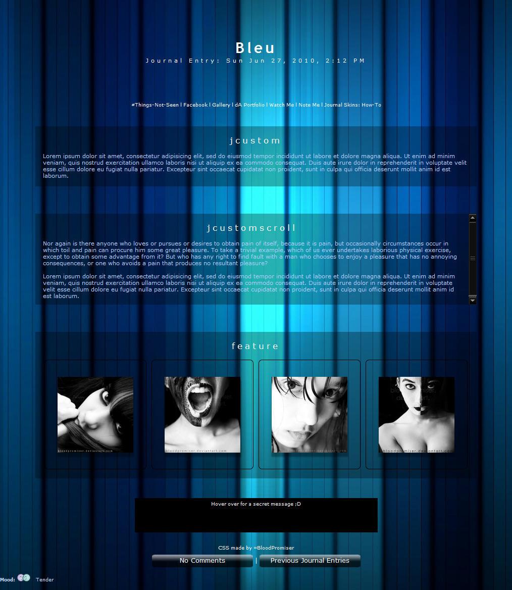 Bleu by TwiggyTeeluck