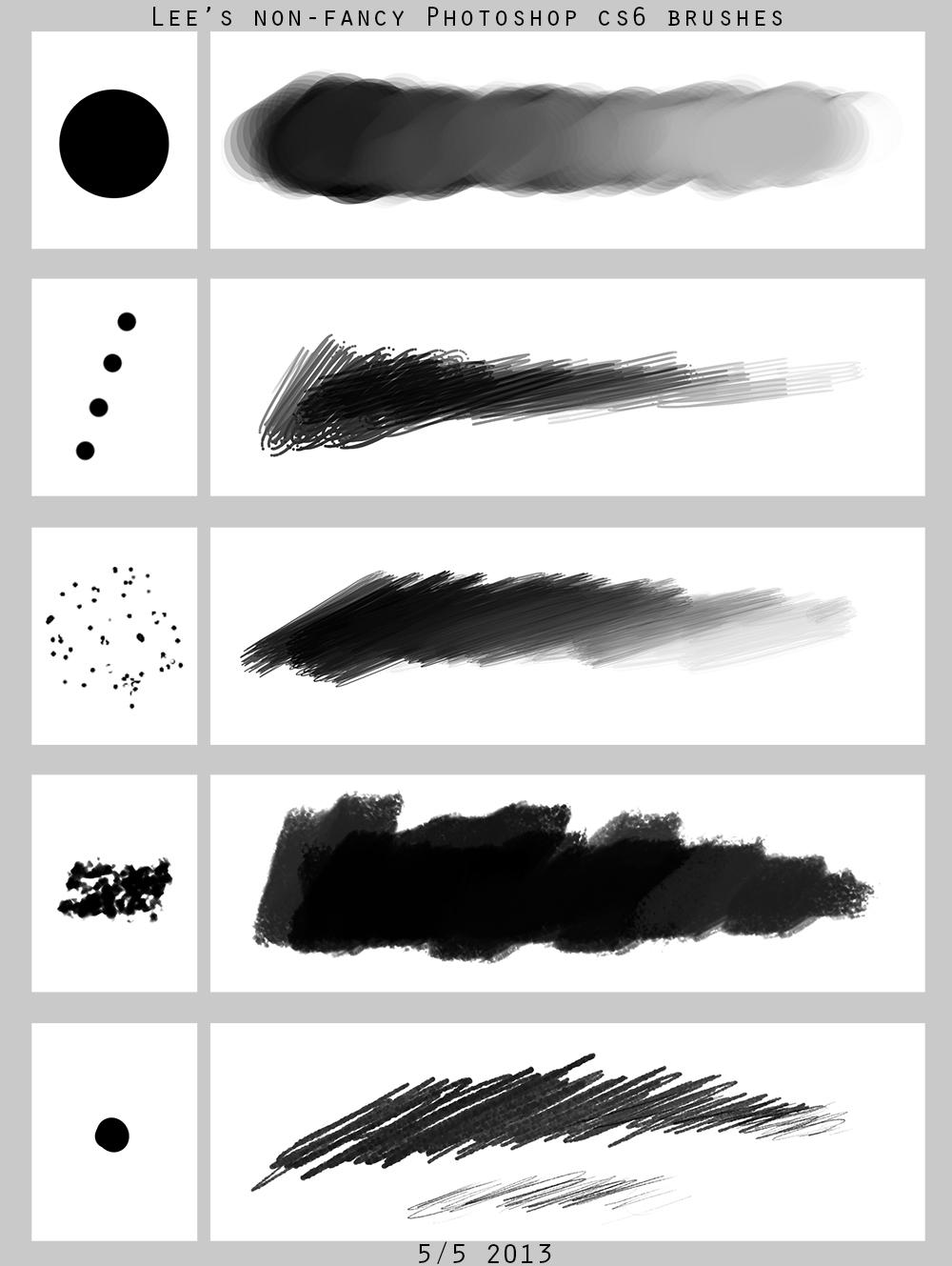 Lee's Non-fancy PS brush set