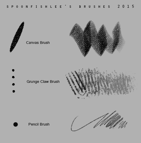 Spoonfish Brushes 2015 by SpoonfishLee