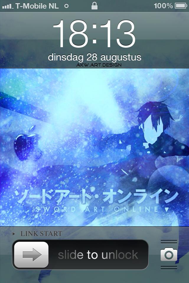 Iphone 4 Sword Art Online Kirito by Akw-Art-Design