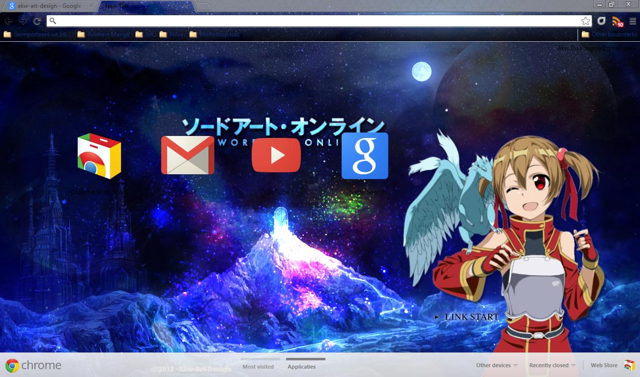 Google chrome theme guilty crown - Kurayamikun 11 1 Google Chrome Sword Art Online Silica
