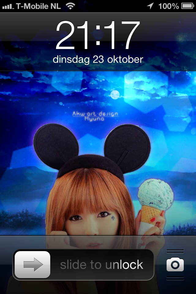 Iphone 4 Hyuna Ice Cream by Akw-Art-Design