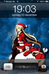 Iphone 4 Guilty Crown Christmas Carol x Present