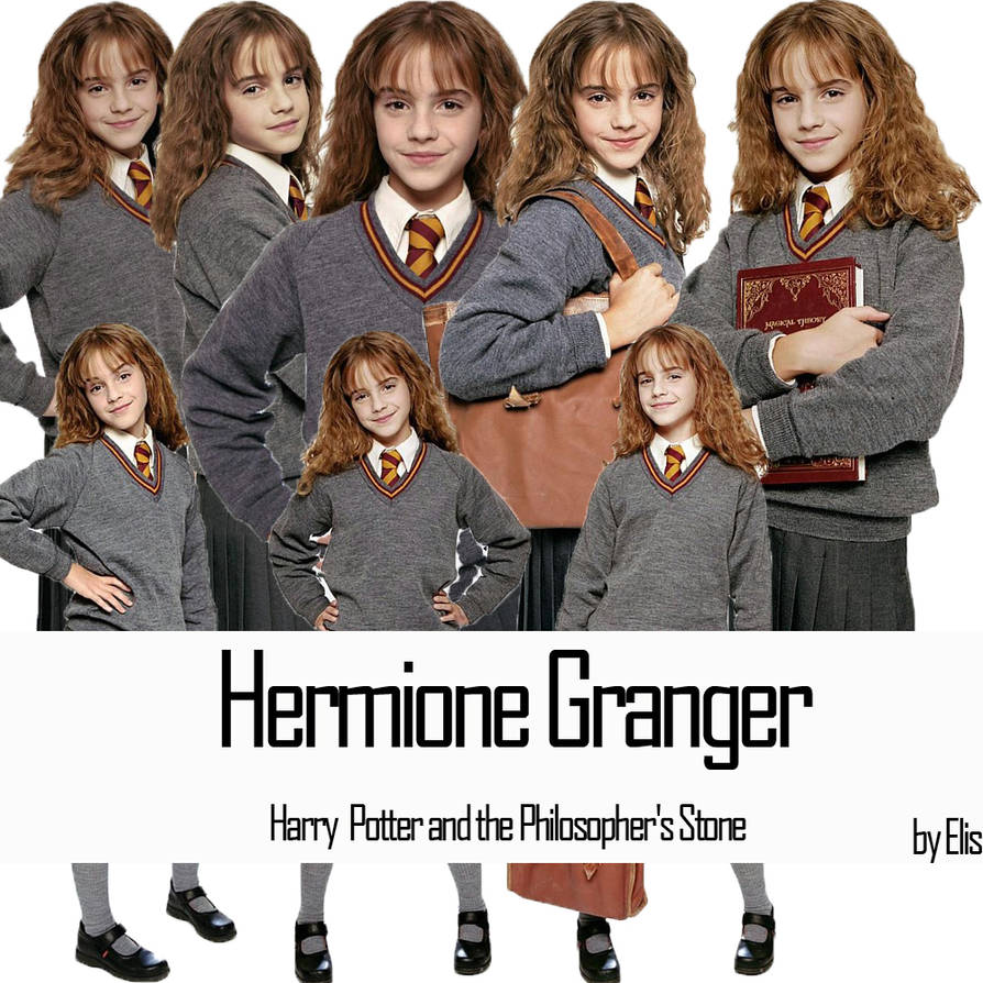5 digi stamp set in png and jpg high resolution files Hermione