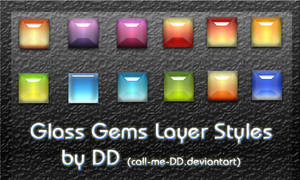 Glass Gems Layer Styles