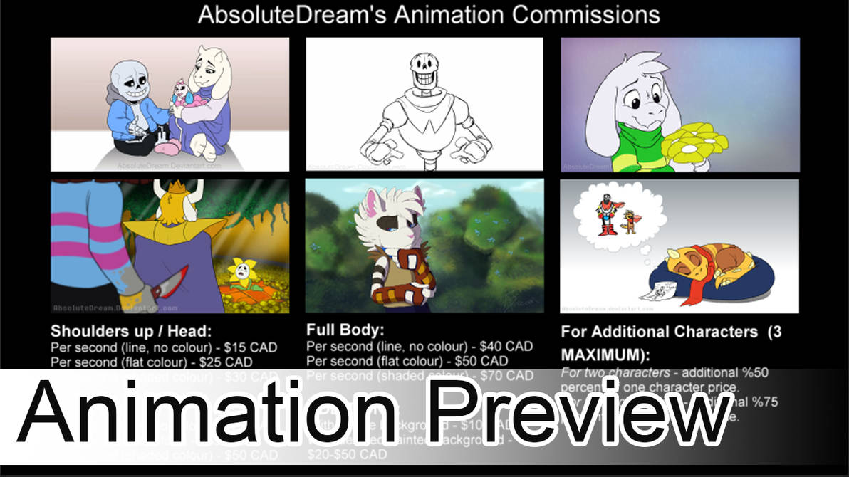 Animation Commissions will open April 25th