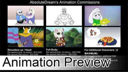 Animation Commissions are CLOSED