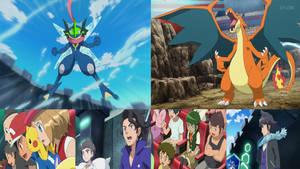 Pokemon XYZ OC Harry-Greninja vs Mega-Charizard Y