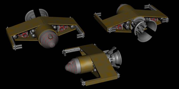 Falco spacecraft POV-Ray model