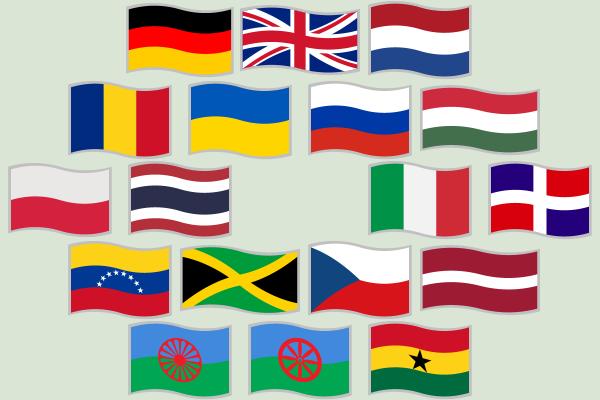 Waving flags by skotan