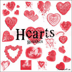 Hearts brushes by KarnivalKun